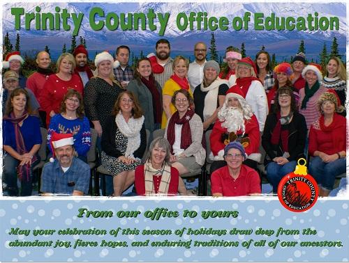 Happy Holidays from all of us at Trinity COE